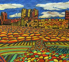 314 - TANTALLON CASTLE, SCOTLAND - DAVE EDWARDS - COLOURED PENCILS - 2010 by BLYTHART