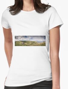 Mussenden Temple and the Black Glen Womens Fitted T-Shirt