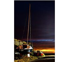 Boats at Sunset Photographic Print