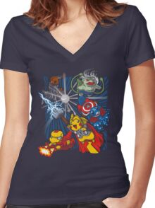 Avengermon! Women's Fitted V-Neck T-Shirt