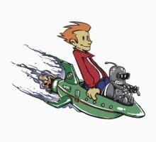 Bender & Fry STICKER! by Punksthetic