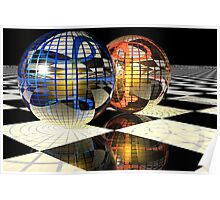 Spheres refraction reflections Poster