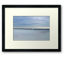 Alone and Blue... Framed Print