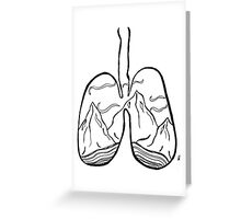 righteous lungs Greeting Card