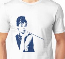 Audrey Hepburn Breakfast at Tiffany's 2 Blue  Unisex T-Shirt