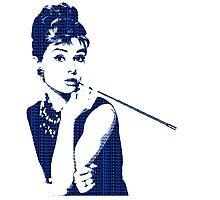 Audrey Hepburn Breakfast at Tiffany's 2 Blue  Photographic Print