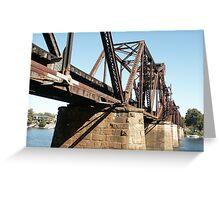 6th St Rail Bridge, GA to SC Greeting Card