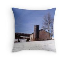 A Winter Scene Throw Pillow