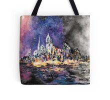 Lucid Cartography Watercolour Painting (Cityscape) Tote Bag