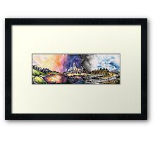 Lucid Cartography Watercolour Painting (Cityscape) Framed Print