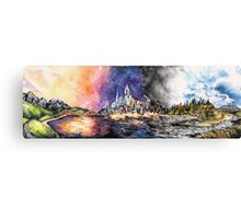 Lucid Cartography Watercolour Painting (Cityscape) Canvas Print