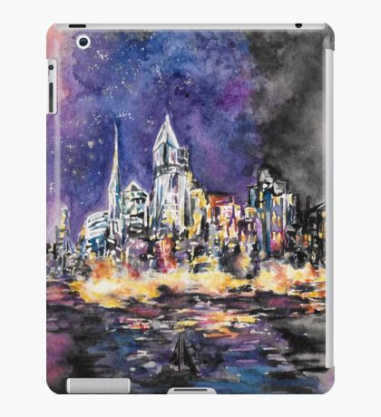 Lucid Cartography Watercolour Painting (Cityscape) iPad Case/Skin
