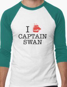 I Ship Captain Swan Men's Baseball ¾ T-Shirt