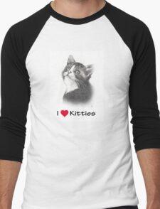 I Love Kitties: Kitten in Pencil Men's Baseball ¾ T-Shirt