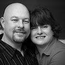 Eddy and Jenn Portrait (black and white) by Scott Ruhs