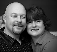 Eddy and Jenn Portrait (black and white) by Scott Ruhs
