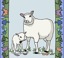 Sheep Artist, Sheep Art by Audra Lemke