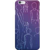 White Gel Pen Sketches iPhone Case/Skin