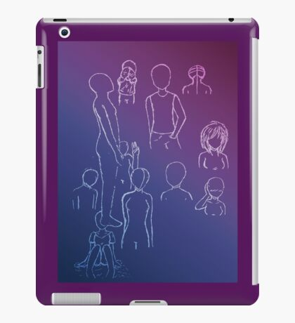 White Gel Pen Sketches iPad Case/Skin