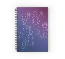 White Gel Pen Sketches Spiral Notebook