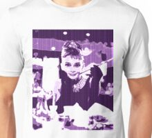 Audrey Hepburn Breakfast at Tiffany's Purple  Unisex T-Shirt