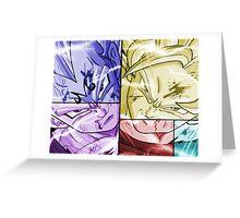 dragon ball z goku vegeta anime manga shirt Greeting Card