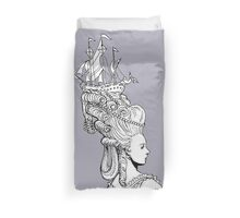 Girl With Ship Duvet Cover