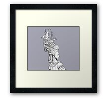 Girl With Ship Framed Print