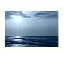 a Blue Horizon Art Print