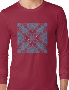 Abstract blue pattern Long Sleeve T-Shirt