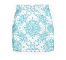 Abstract blue pattern Mini Skirt