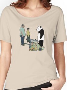 Never Say No To Panda! [Black Outline] Women's Relaxed Fit T-Shirt