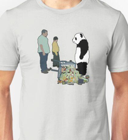 Never Say No To Panda! [Black Outline] T-Shirt