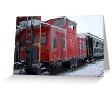 Cold Caboose Greeting Card