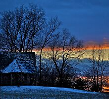 Winter winds and lights by Nancy Rohrig