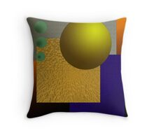 Desk Gadget Throw Pillow