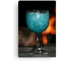 Frozen Blue Daquari PE Canvas Print