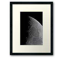 Northern Lunar Pole, Seas of Cold, Serenity, and Tranquility - Landolt Telescope Framed Print