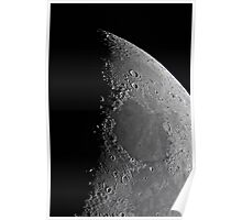 Northern Lunar Pole, Seas of Cold, Serenity, and Tranquility - Landolt Telescope Poster