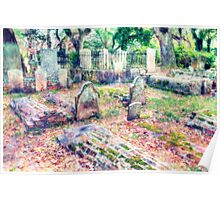 Country Churchyard Poster