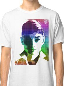 Audrey Hepburn White Shirt Portrait Multicolour  Classic T-Shirt