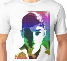Audrey Hepburn White Shirt Portrait Multicolour  Unisex T-Shirt