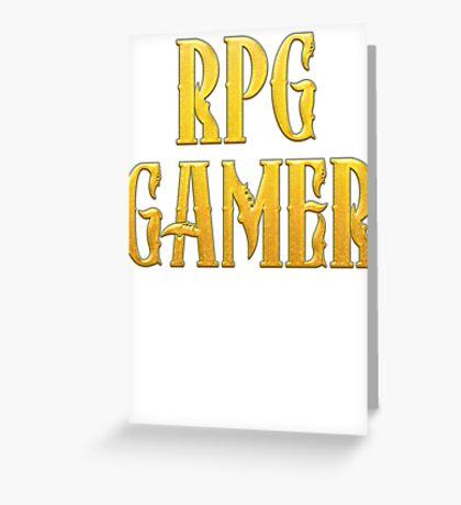 RPG Gamer Role Playing Gamer T Shirt Greeting Card
