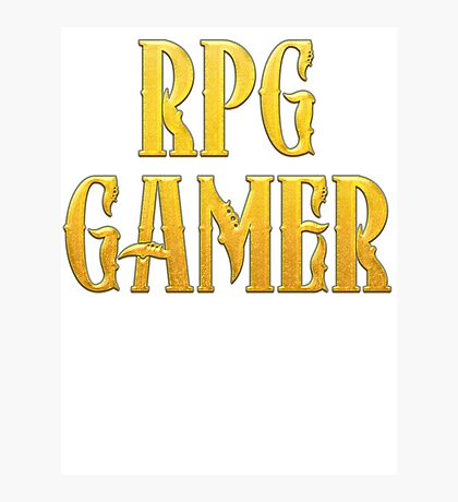RPG Gamer Role Playing Gamer T Shirt Photographic Print