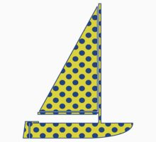 Yellow With Blue Polka Dots Kids Clothes