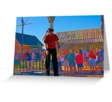 The Man On Stilts Greeting Card