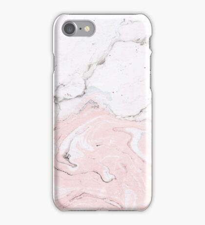 Suminagashi Love, White and Pink iPhone Case/Skin