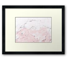 Suminagashi Love, White and Pink Framed Print