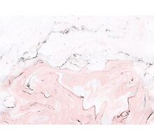 Suminagashi Love, White and Pink Photographic Print