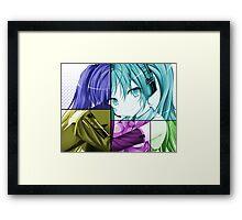 hatsune miku anime manga shirt Framed Print